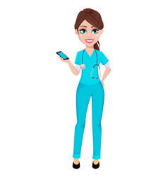 Medical doctor woman medicine healthcare concept vector