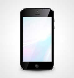 Mobile phone with wallpaper isolated on white vector