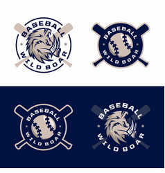 modern professional emblems set for baseball game vector image