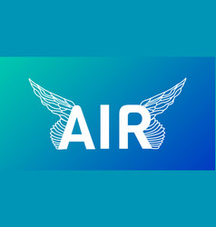 modern professional word air typography with vector image