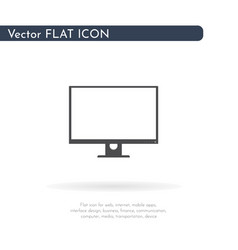 monitor icon for web business finance and vector image