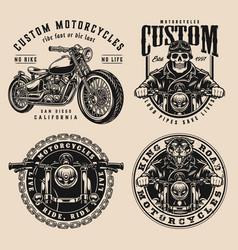 monochrome custom motorcycle prints vector image
