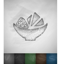 Nachos icon Hand drawn vector