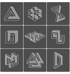 Optical shapes elements vector