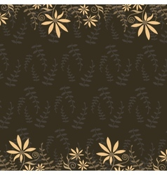 Peach flowers on a dark background vector