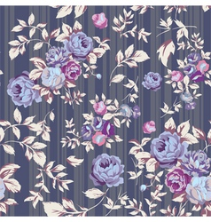 Rose seamless pattern gray vector