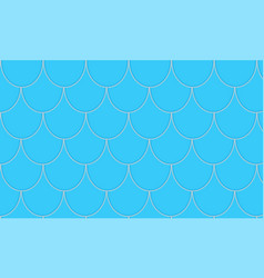 Seamless pattern with blue fish scales vector