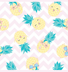 Seamless pineapple pattern for textile fabric or vector