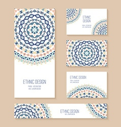 set business card banner invitation card vector image