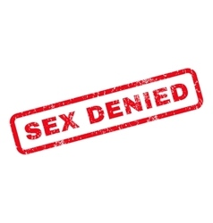 Sex Denied Rubber Stamp vector