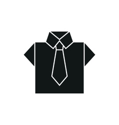 Shirt icon on white background vector