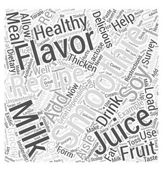 Smoothie recipes Word Cloud Concept vector