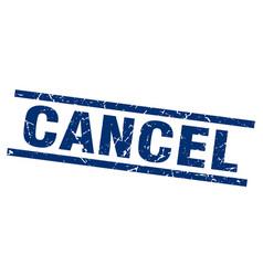 Square grunge blue cancel stamp vector