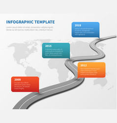 strategy chronological road map business vector image