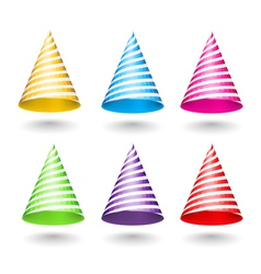 Striped Party Hats vector image