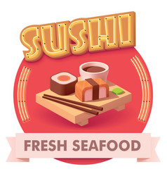 sushi or label for menu vector image