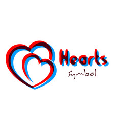 Symbol stylized hearts vector