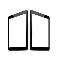 Tablet computer screen mock up vector