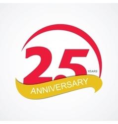 Template logo 25 anniversary vector