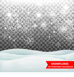 The falling snow and drifts vector image