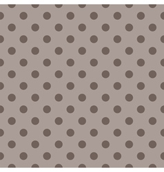 Tile pattern brown polka dots on dark background vector image