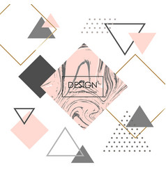 trendy minimalist geometric background pink vector image