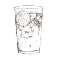 Tropical cocktail sketch icon vector