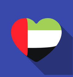 united arab emirates heart icon in flat style vector image