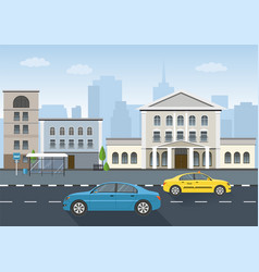 urban landscape and city life vector image