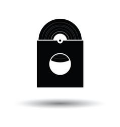 Vinyl record in envelope icon vector