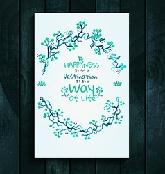 Watercolor card template vector