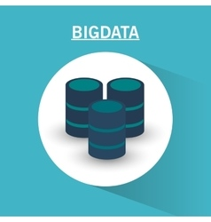 Web hosting and big data design vector