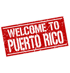 Welcome to puerto rico stamp vector
