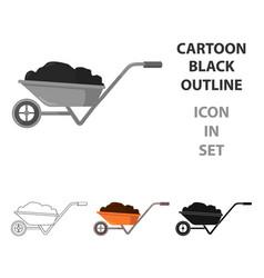 wheelbarrow icon of for web vector image vector image