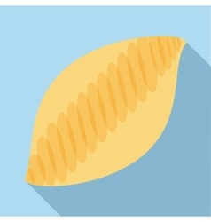 White bread icon flat style vector image