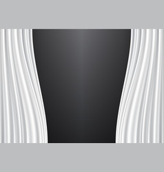 white curtain on black design background vector image