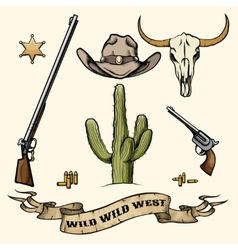 Wild West Elements vector