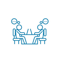 working discussion linear icon concept working vector image