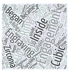Cubic zirconia engagement rings word cloud concept vector