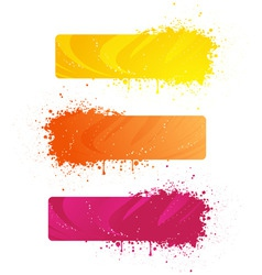 grunge banners in bright colors vector image