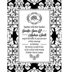 Vintage delicate formal invitation card royalty free vector vintage delicate formal invitation card vector image vector image stopboris Gallery