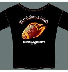 American football t-shirt template vector image
