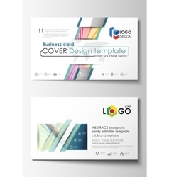 Business card templates easy editable layout vector image business card templates cover template easy vector image vector image wajeb Gallery