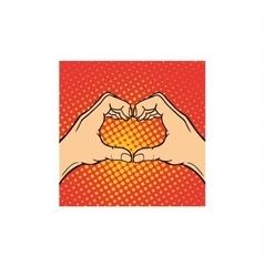 Hands heart symbol vector image