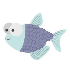 light colours silhouette of fish with big eyes and vector image vector image