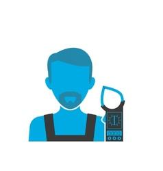 Maintenance electrician blue icon vector image