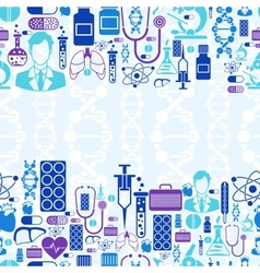 Medical and health care seamless pattern vector image vector image