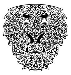 monkey stylized zentangle style ethnic monkey vector image