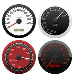 set of speedometer vector image