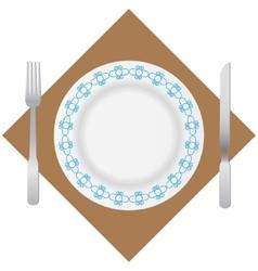 tableware vector image